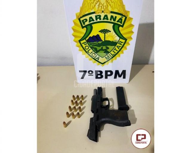 PM prende homem embriagado após ameaçar ex-esposa com arma em Goioerê
