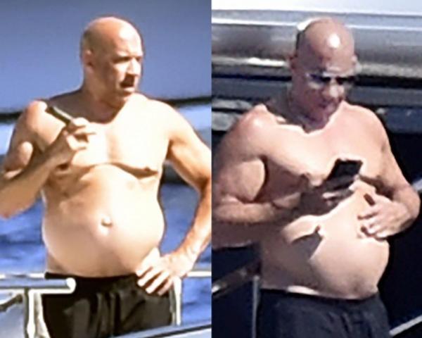 Vin Diesel é fotografado em passeio de iate na Itália