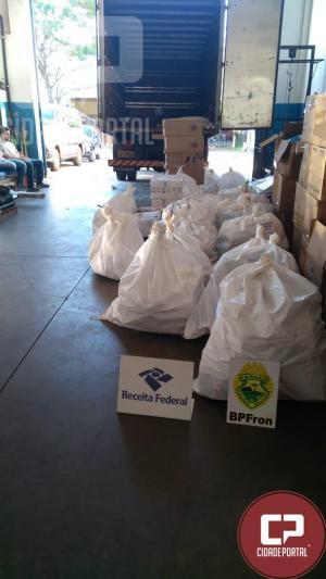 Operação resulta na apreensão de mercadorias contrabandeadas do Paraguai