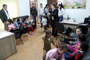 Crianças do CMEI Candeias visitam o Paço Municipal