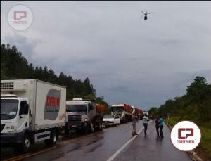 Um grave acidente automobilístico na BR-272 entre Farol e Campo Mourão tira a vida de um morador de Juranda-PR