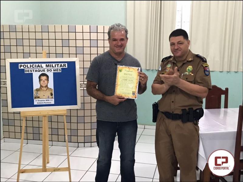 O Sargento Pacheco é o Policial Militar destaque de Novembro de 2017 do 7º BPM