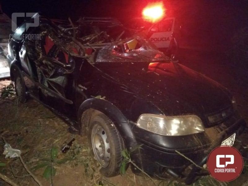 Três pessoas sofrem ferimentos em acidente entre Cidade Gaúcha e Nova Olímpia