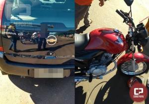 Acidente automobilístico deixa uma mulher ferida no Jardim Curitiba