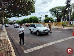 Vigilância Sanitária e Polícia Militar orienta sobre o uso de máscaras em Goioerê