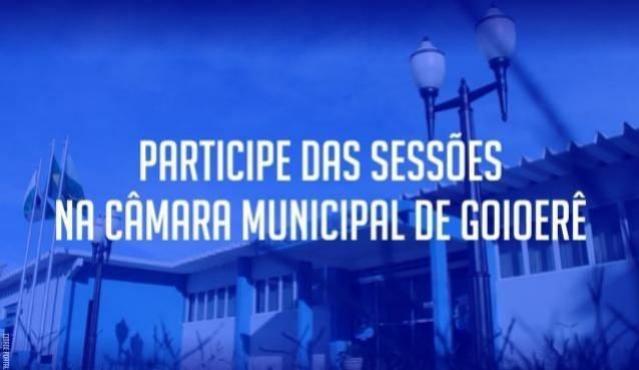 Sessão da Câmara Municipal de Goioerê será nesta segunda-feira, 14
