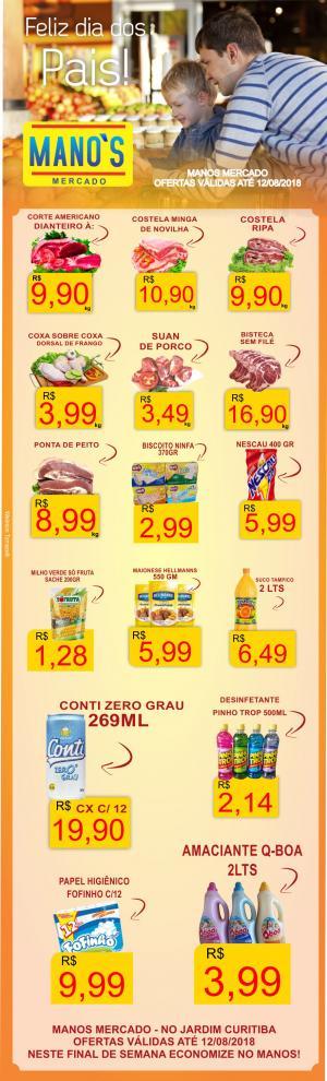Para Economizar este fim de semana - aproveite as ofertas do Manos Mercado