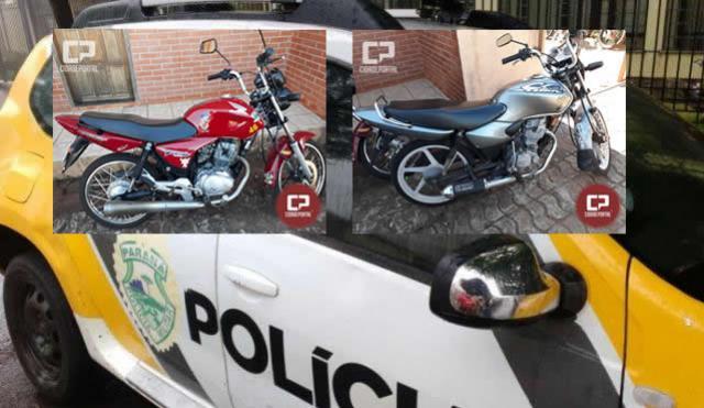 Polícia Militar apreende duas motocicletas que disputavam raxa em Goioerê