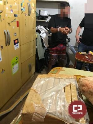 Polícia Civil de Umuarama através do GDE prende traficante com 16 Kg de entorpecentes
