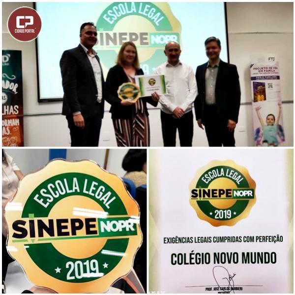 Colégio Novo Mundo recebe selo Escola Legal durante cerimonia realizada em Maringá