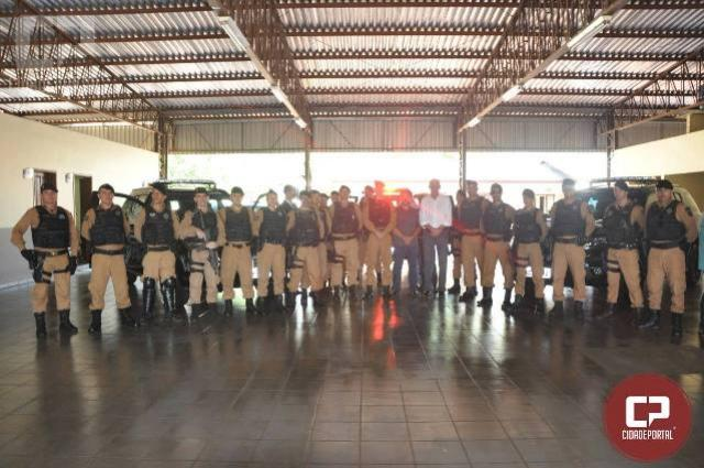 Solenidade marca entrega de viaturas do BPFron à segunda companhia do Batalhão em Guaíra -PR