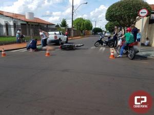 Duas pessoas ficam feridas em acidente automobilístico na área central de Goioerê