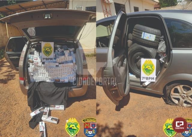 Policiais Militares do 7º BPM apreendem veículo carregado com contrabando em Tapira