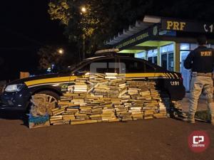 PRF apreende meia tonelada de maconha e apreende uma pistola no Paraná