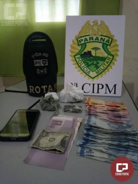 Polícia Militar da 3ª CIPM localiza drogas em cumprimento de mandado em Nova Londrina