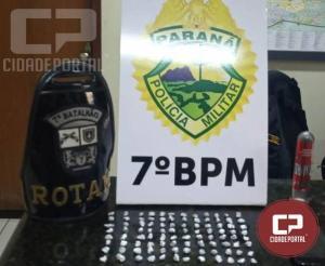 Policia Militar apreendem drogas e encaminham cinco pessoas em situações distintas - apreensão das 16h30min