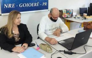A Chefia do Núcleo Regional realiza reunião via Meet com as Equipes Gestoras das escolas públicas estaduais