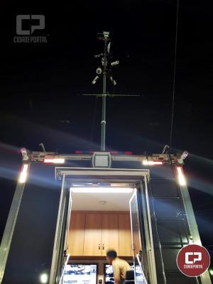 Plataforma de Observação Elevada da Polícia Militar do Paraná presente na Expo-Goio 2019