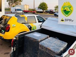 PRE de Cruzeiro do Oeste apreende veículo carregado com mercadorias contrabandeadas do Paraguai