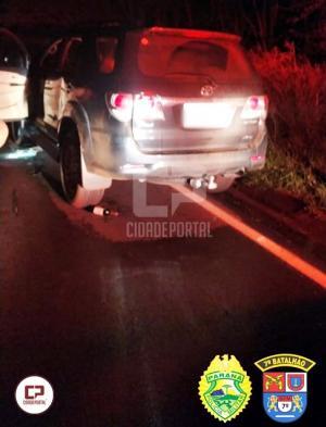 Polícia Militar age rápido e recupera caminhoneta furtada em Goioerê
