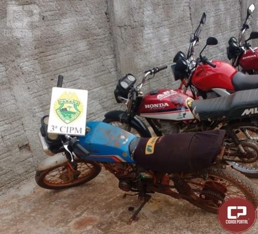 3ª CIPM apreende motocicleta com sinal identificador alterado em Querência do Norte