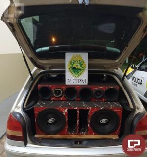 3ª CIPM apreende veículo e aparelhos de som por perturbação do sossego alheio em Loanda
