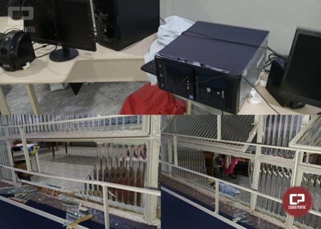 Mais uma vez ladrões invadem o Centro Educacional Santa Clara de Goioerê