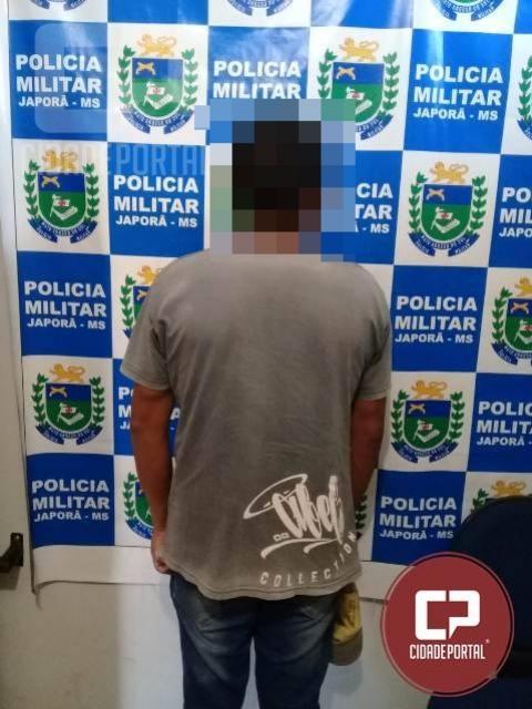 PM prende homem condenado a 18 anos de prisão em Japorã - MS