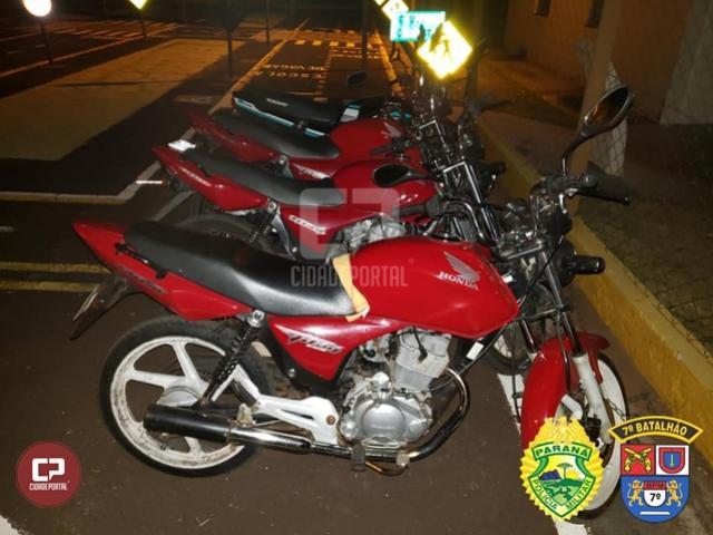 Polícia Militar apreende motocicletas em situações irregulares na cidade de Cruzeiro do Oeste
