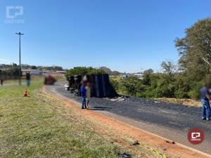 PRE atende acidente que aconteceu em Cruzeiro do Oeste neste sábado, 08