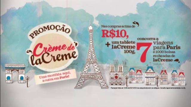 Promoção Cacau Show - Creme de LaCreme Uma mordida aqui, a outra em Paris!
