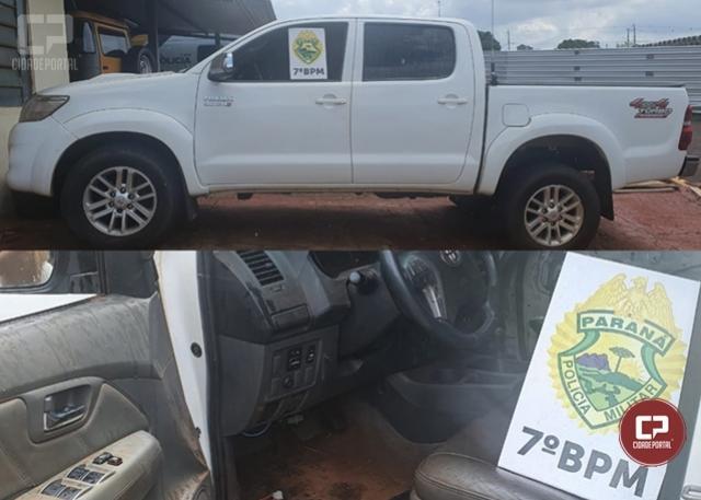 Policiais Militares do 7º BPM apreendem veículo usado para contrabando em Nova Olímpia