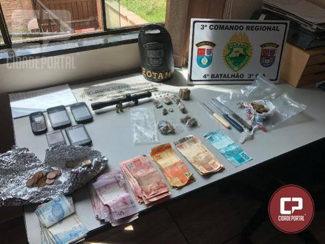 Polícia Militar realiza operação em Paiçandu e faz apreensão de drogas e dinheiro