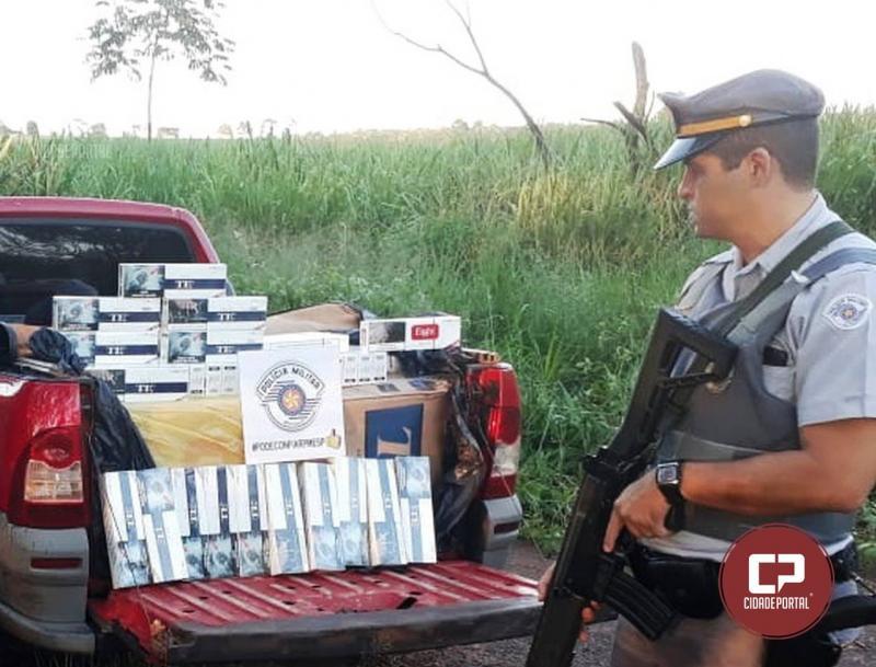 Goioerense foi preso em Dracena/SP com carga de 10 mil maços de cigarros contrabandeados