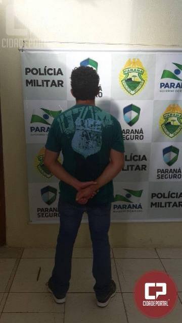 Equipe da PM prende homem por violência doméstica