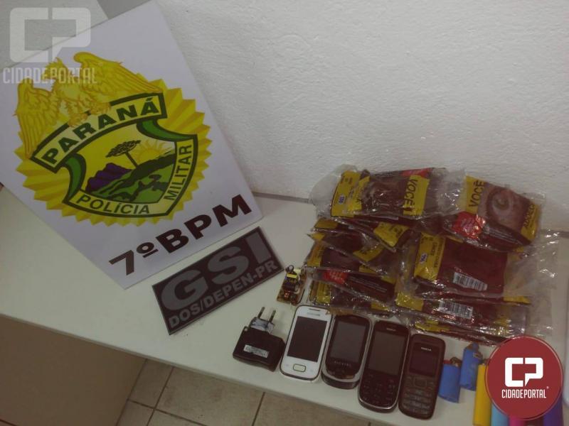 Polícia apreende objetos arremeçados para a Penitenciária de Cruzeiro do Oeste