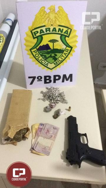 ROTAM do 7º BPM de Goioerê prende duas pessoas por tráfico de drogas e porte ilegal de arma
