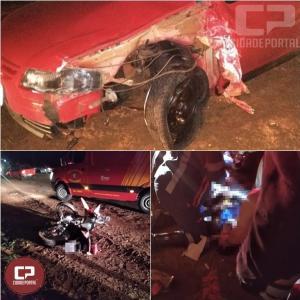 Motorista causa acidente e foge sem prestar socorro em Quarto Centenário