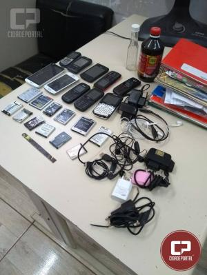 Bate grade na cadeia de Goioerê apreende 10 celulares, carregadores, baterias e entorpecentes