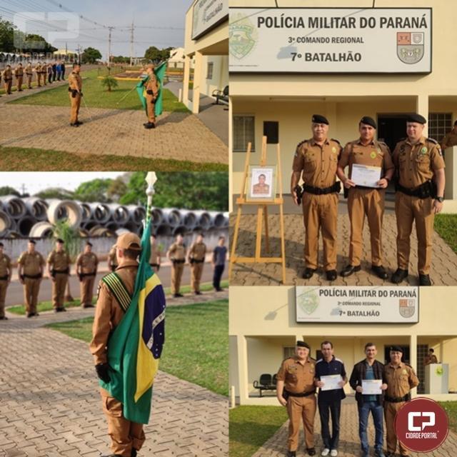 7º BPM realiza solenidade alusiva ao compromisso de militar nomeado ao primeiro posto em Cruzeiro do Oeste