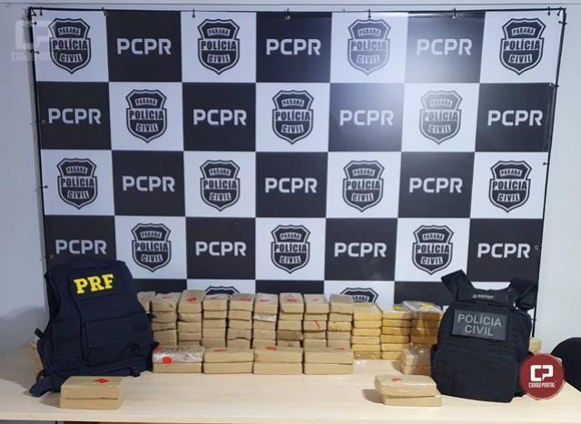 DENARC, PRF e PRE apreendem grande quantidade de crack e cocaína em Cruzeiro do Oeste