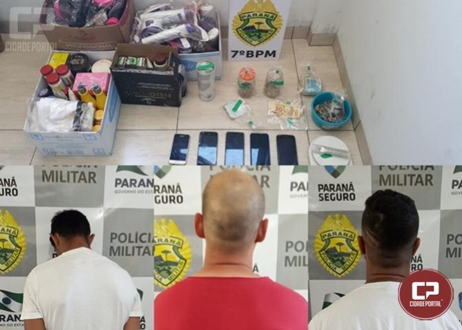 7º BPM cumpre mandado de busca e apreensão em Goioerê e apreende drogas, dinheiro e celulares