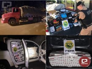 7º BPM apreende 22 veículos carregados com contrabando nos últimos 7 meses
