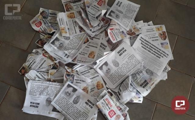 Polícia Militar detém duas pessoas que estavam distribuindo panfletos falsos em Quarto Centenário