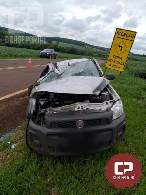 Uma pessoa fica ferida após acidente na PR-468 entre Janiópolis e Boa Esperança
