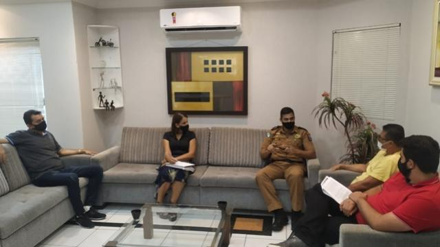Vereadores se reuniram com o Comandante da 2ª CIA da Polícia Militar de Goioerê