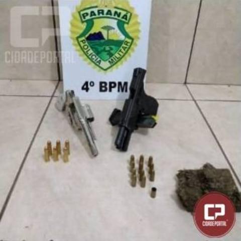 PM prende 5 pessoas em tentativa de homicídio, apreende armas de fogo e drogas em Maringá