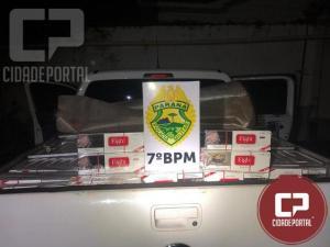 Entorpecentes e um veículo carregado com contrabando são apreendidos por policiais do 7º BPM