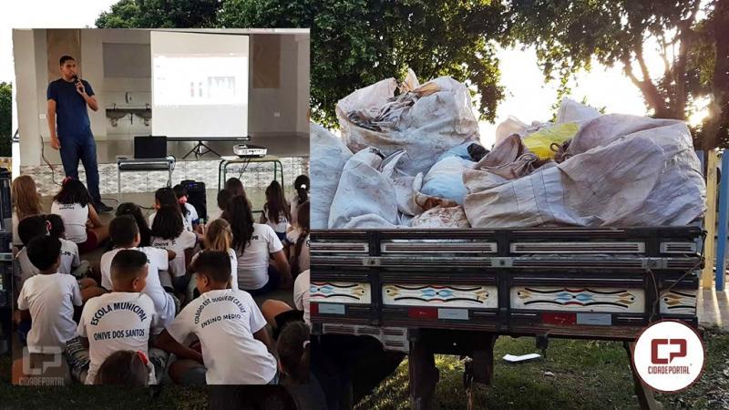 Projeto da Escola Onive dos Santos recolhe mais de meia tonelada de recicláveis