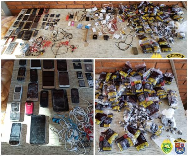 Bate grade na Cadeia Feminina de Goioerê apreende celulares, carregadores, baterias e drogas